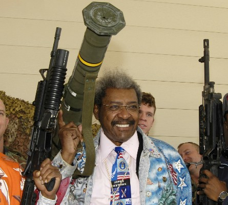 Don King with rocket launcher